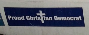 christian democrat bumper sticker