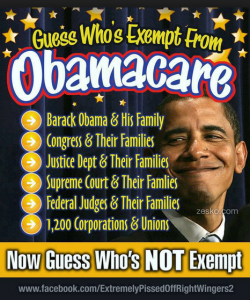 who is exempt from obama care